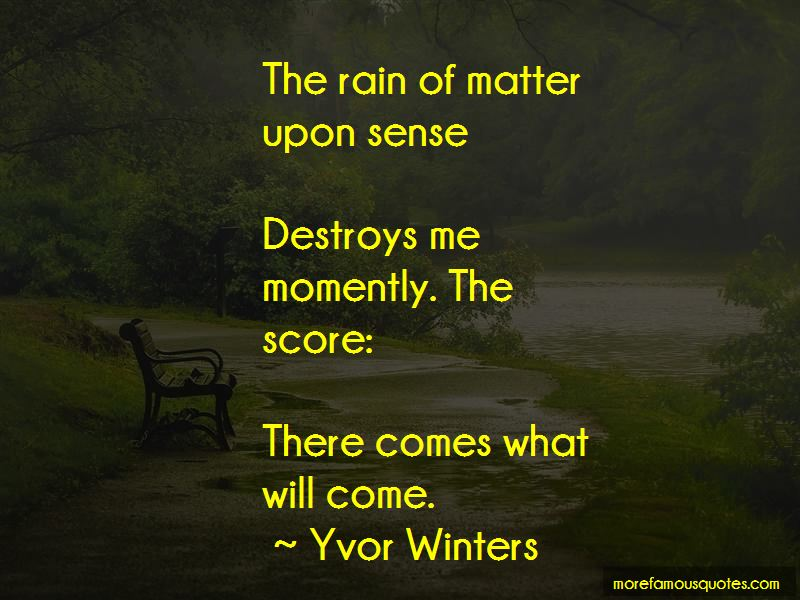 Yvor Winters Quotes Pictures 3