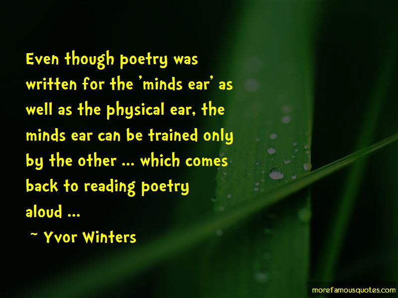 Yvor Winters Quotes Pictures 4