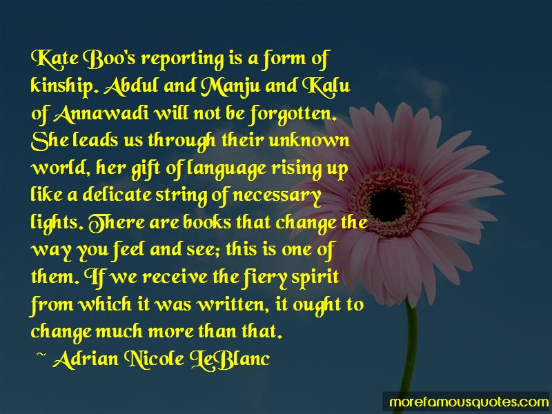 Adrian Nicole LeBlanc Quotes Pictures 2