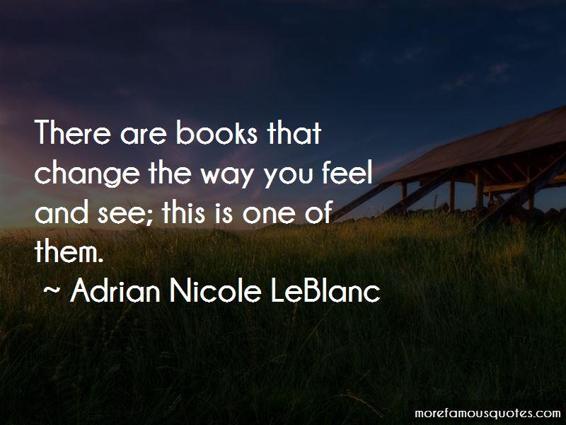 Adrian Nicole LeBlanc Quotes