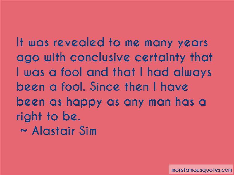 Alastair Sim Quotes