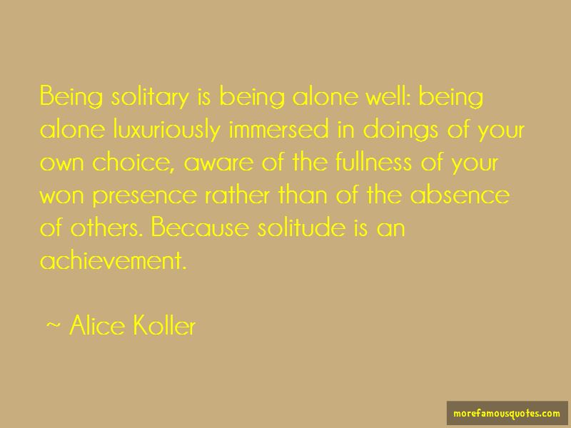 Alice Koller Quotes