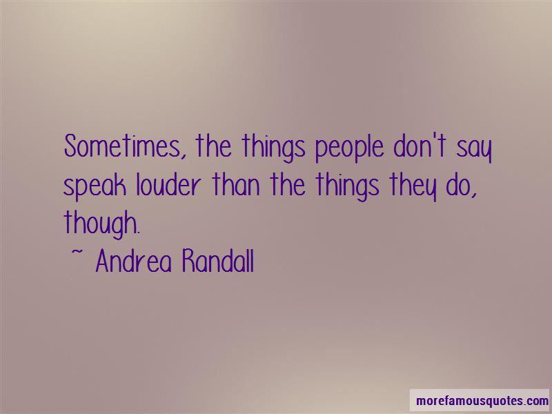 Andrea Randall Quotes