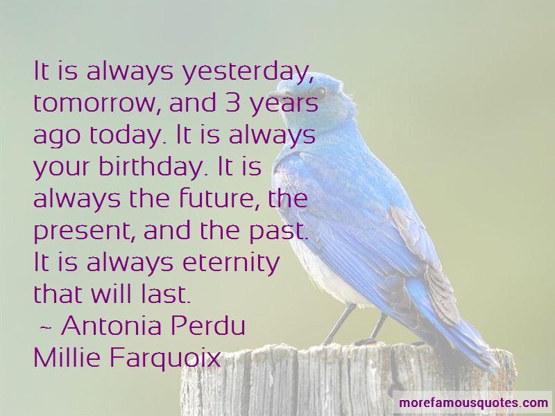 Antonia Perdu Millie Farquoix Quotes