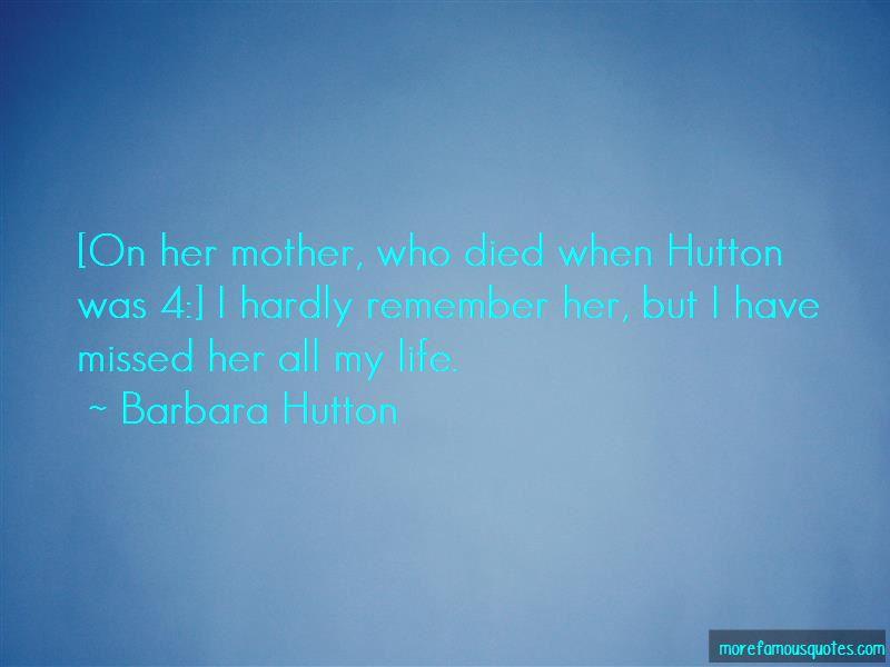 Barbara Hutton Quotes