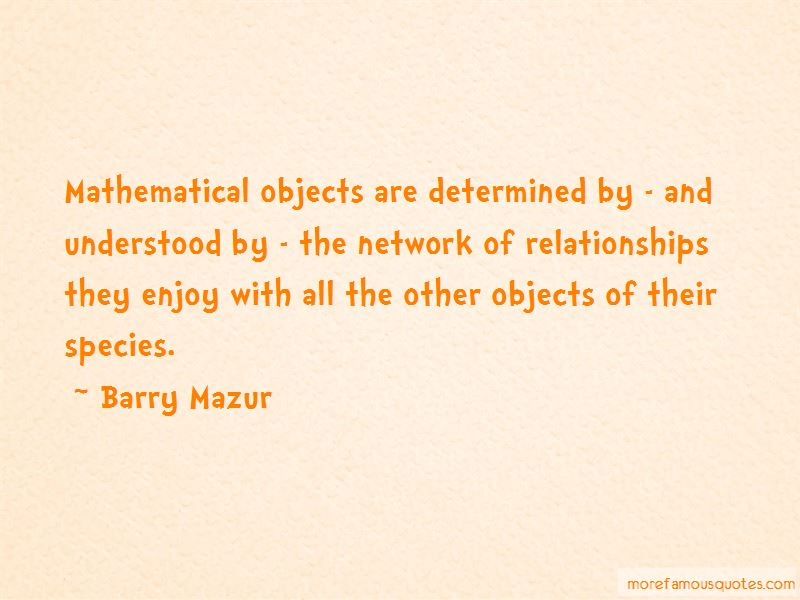 Barry Mazur Quotes Pictures 2