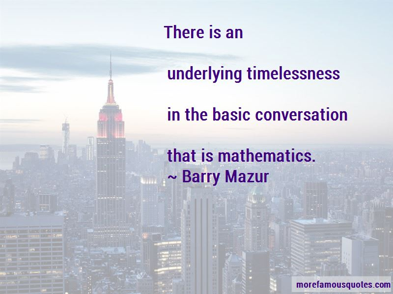 Barry Mazur Quotes Pictures 4