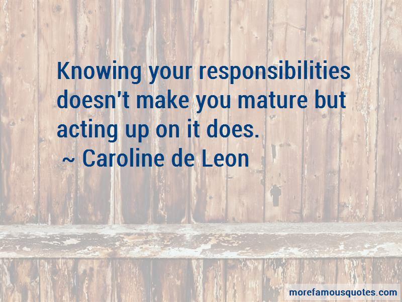 Caroline De Leon Quotes