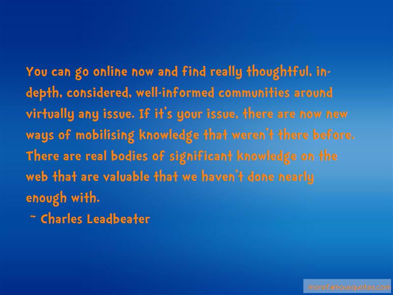 Charles Leadbeater Quotes Pictures 2