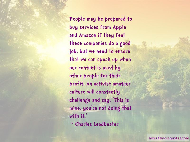 Charles Leadbeater Quotes Pictures 4