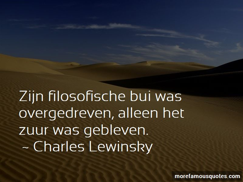 Charles Lewinsky Quotes
