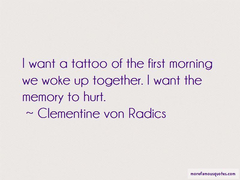 Clementine Von Radics Quotes Pictures 4