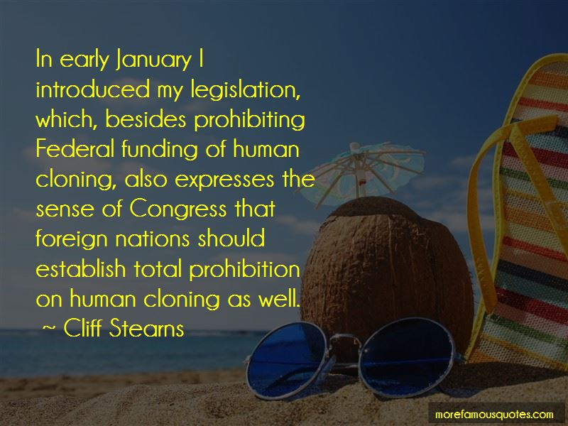 Cliff Stearns Quotes