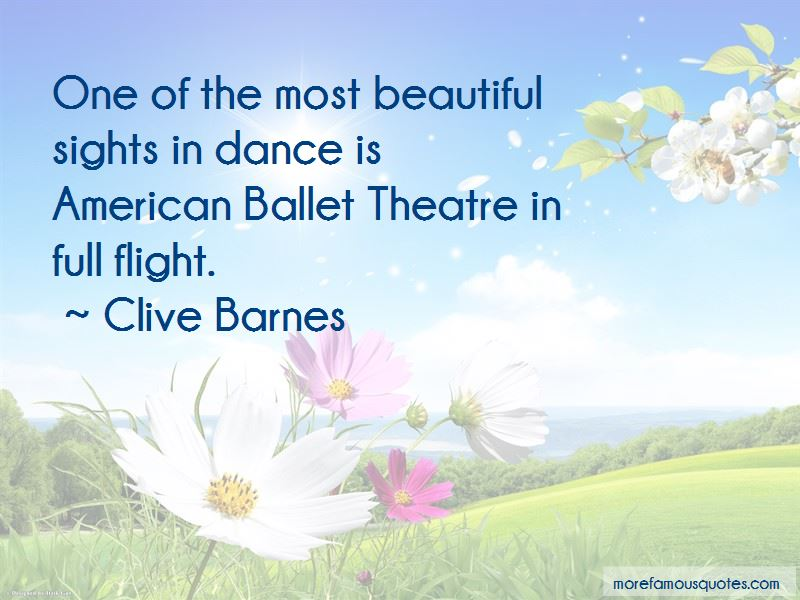 Clive Barnes Quotes Pictures 2