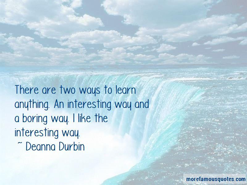 Deanna Durbin Quotes