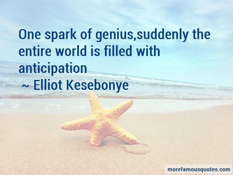 Elliot Kesebonye Quotes