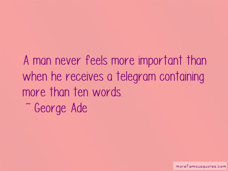 George Ade Quotes