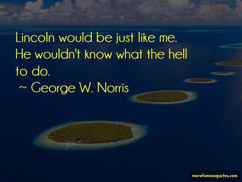 George W. Norris Quotes