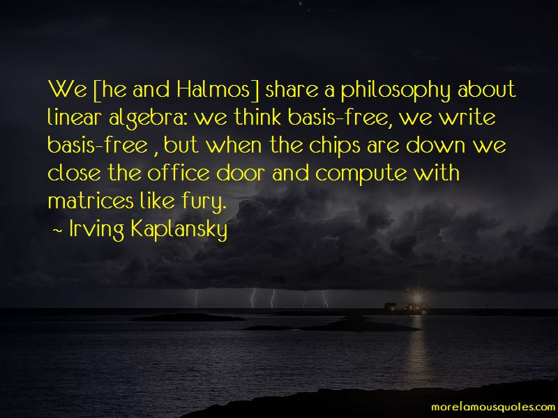 Irving Kaplansky Quotes Pictures 2