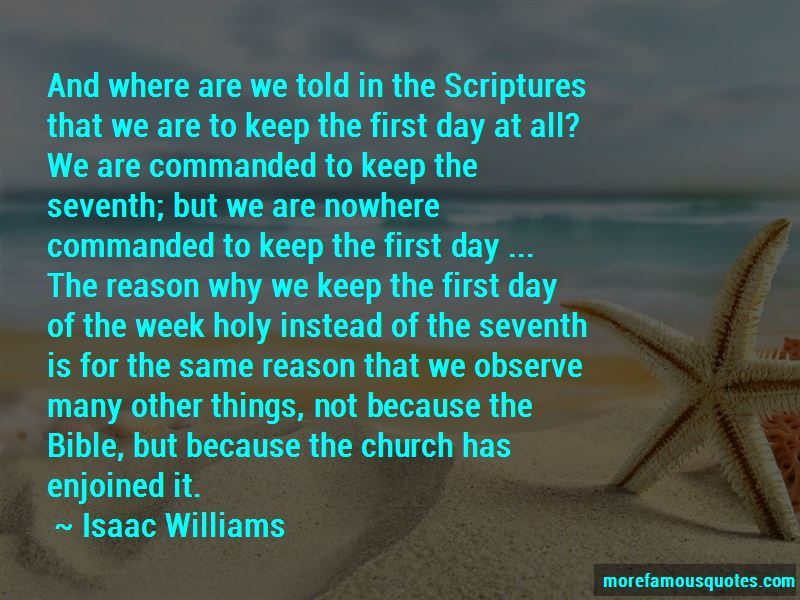 Isaac Williams Quotes