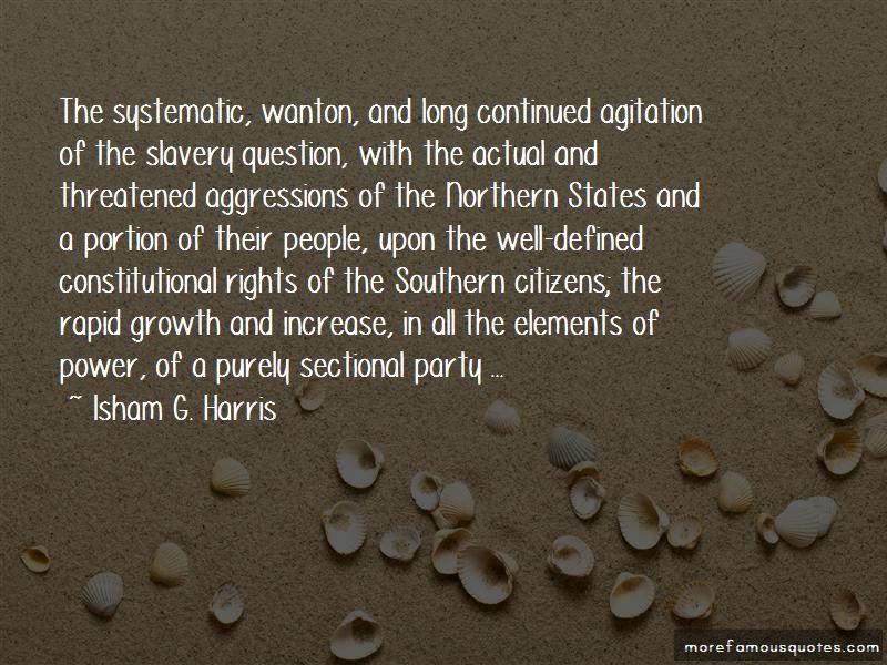 Isham G. Harris Quotes