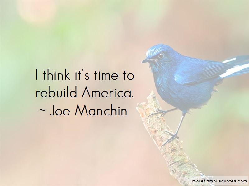 Joe Manchin Quotes