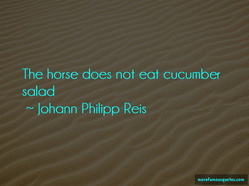 Johann Philipp Reis Quotes Pictures 2