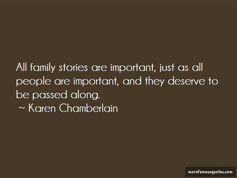 Karen Chamberlain Quotes