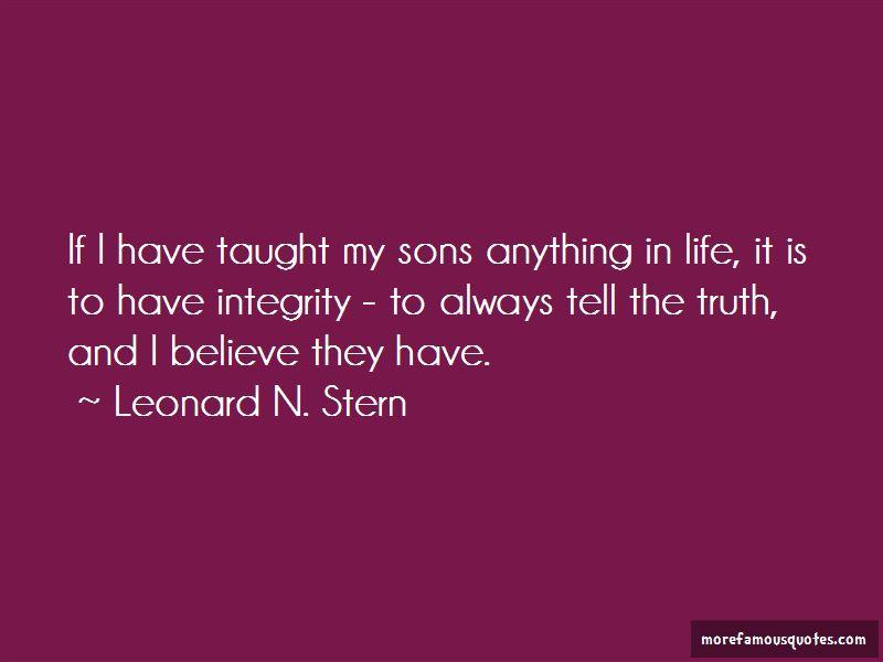 Leonard N. Stern Quotes