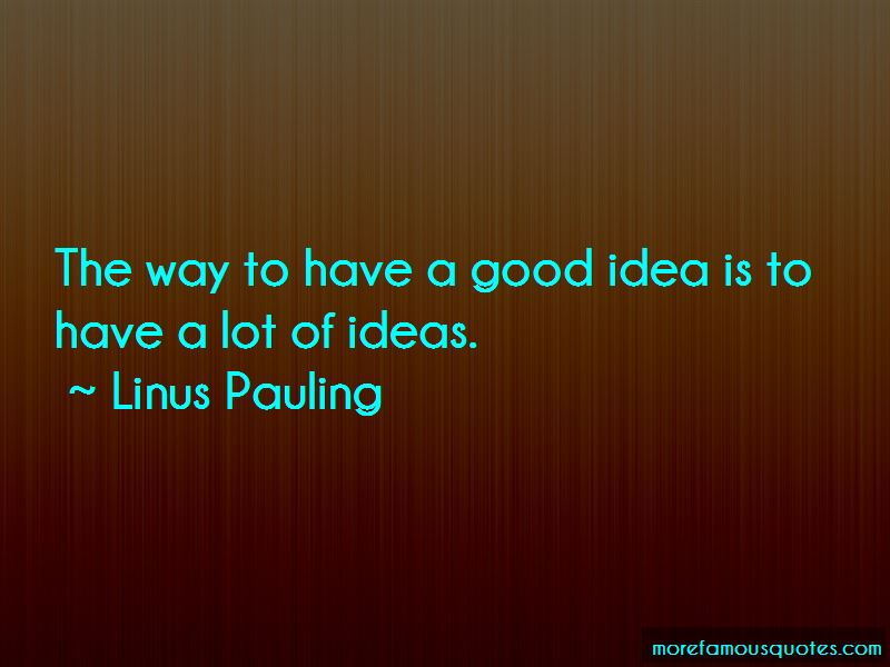 Linus Pauling Quotes Pictures 2