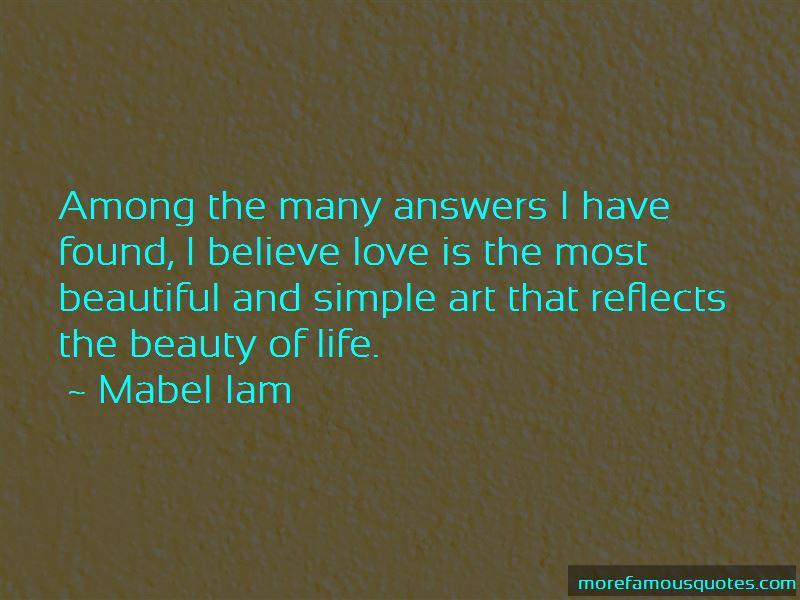Mabel Iam Quotes