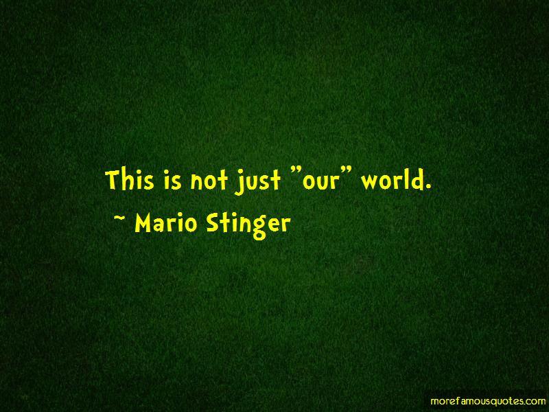 Mario Stinger Quotes Pictures 3