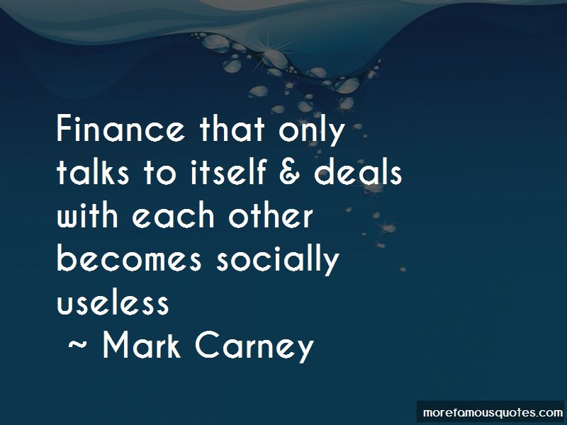 Mark Carney Quotes