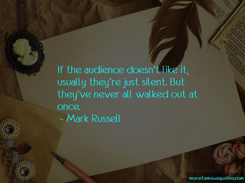 Mark Russell Quotes