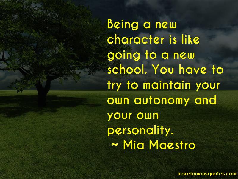 Mia Maestro Quotes