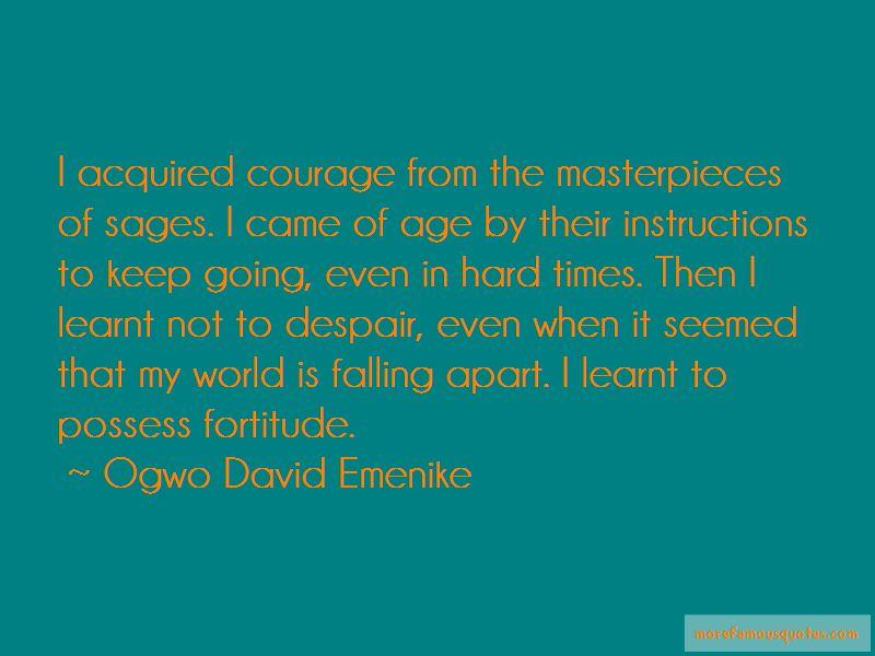 Ogwo David Emenike Quotes