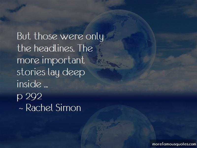 Rachel Simon Quotes Pictures 3