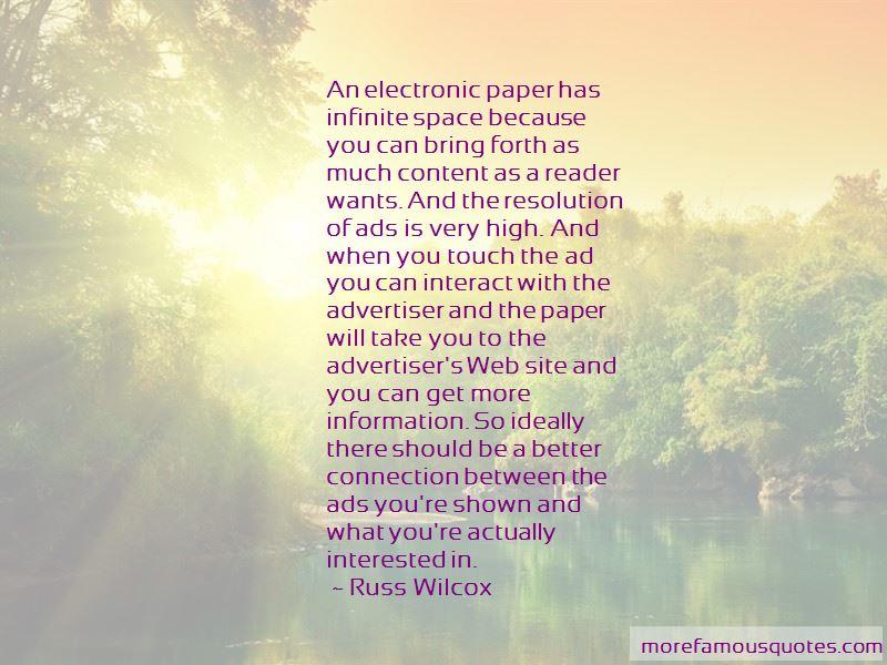 Russ Wilcox Quotes