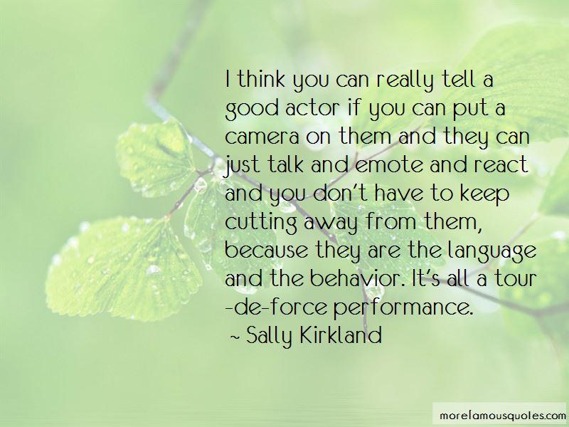 Sally Kirkland Quotes