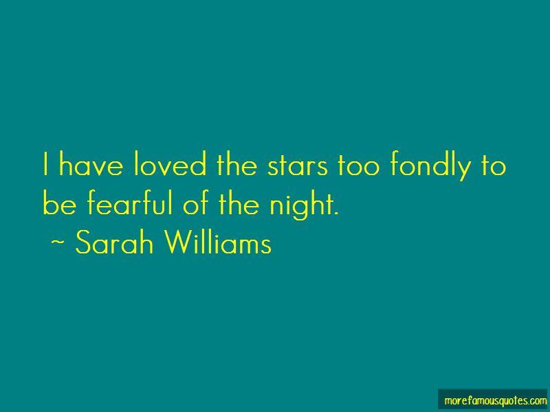 Sarah Williams Quotes