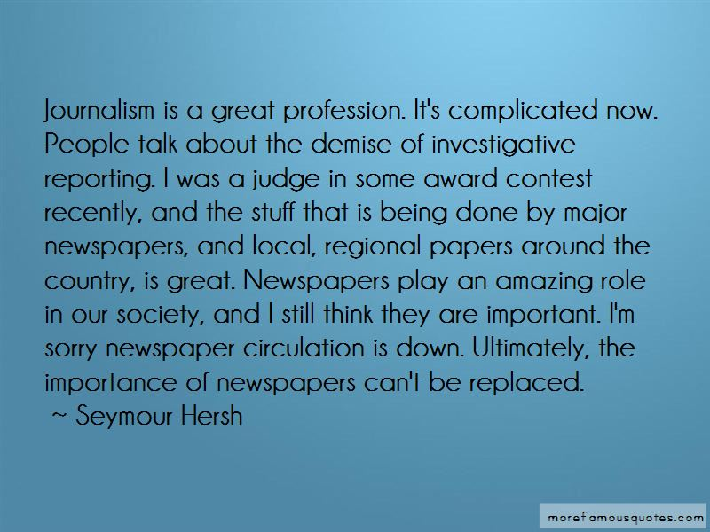 Seymour Hersh Quotes Pictures 2