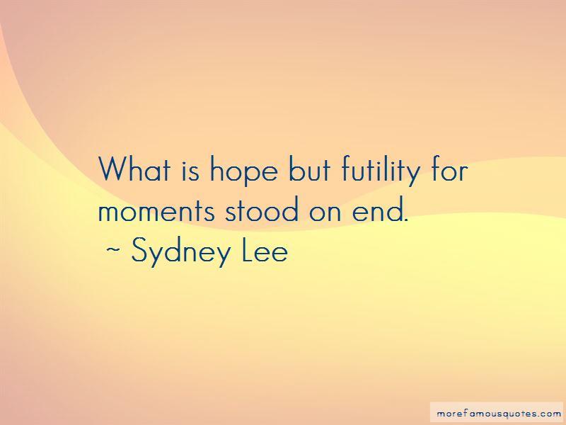 Sydney Lee Quotes