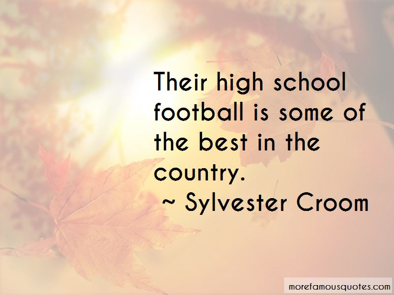 Sylvester Croom Quotes