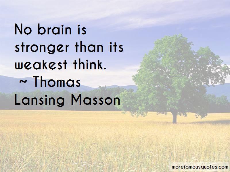 Thomas Lansing Masson Quotes