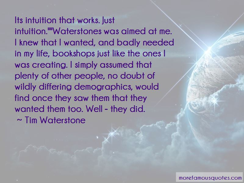Tim Waterstone Quotes Pictures 2