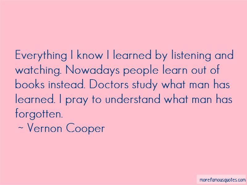 Vernon Cooper Quotes