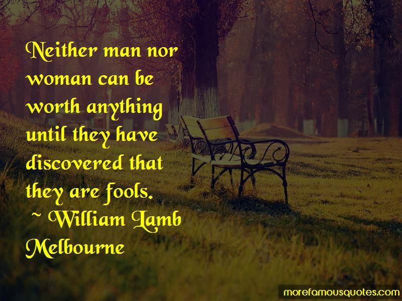 William Lamb Melbourne Quotes