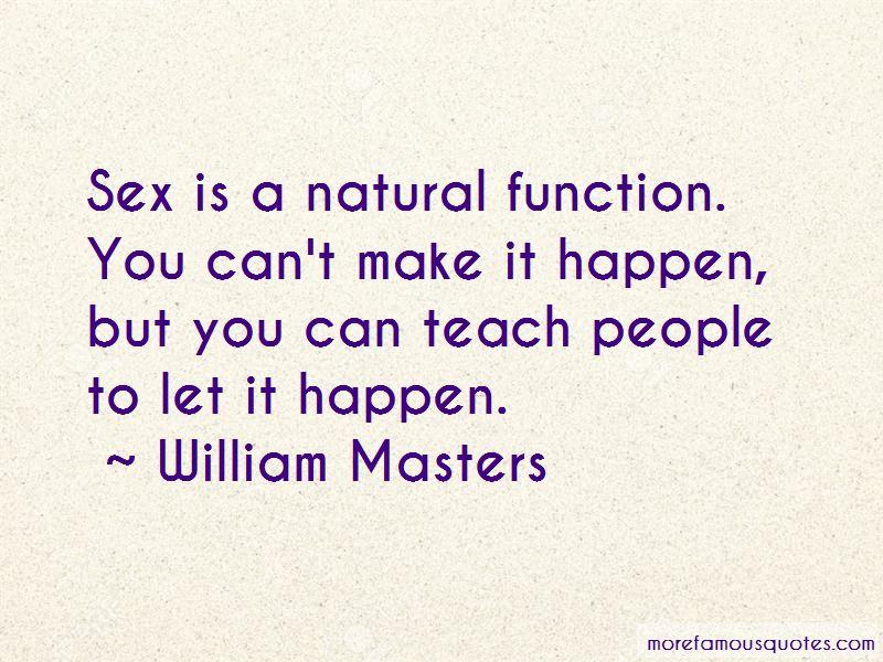 William Masters Quotes