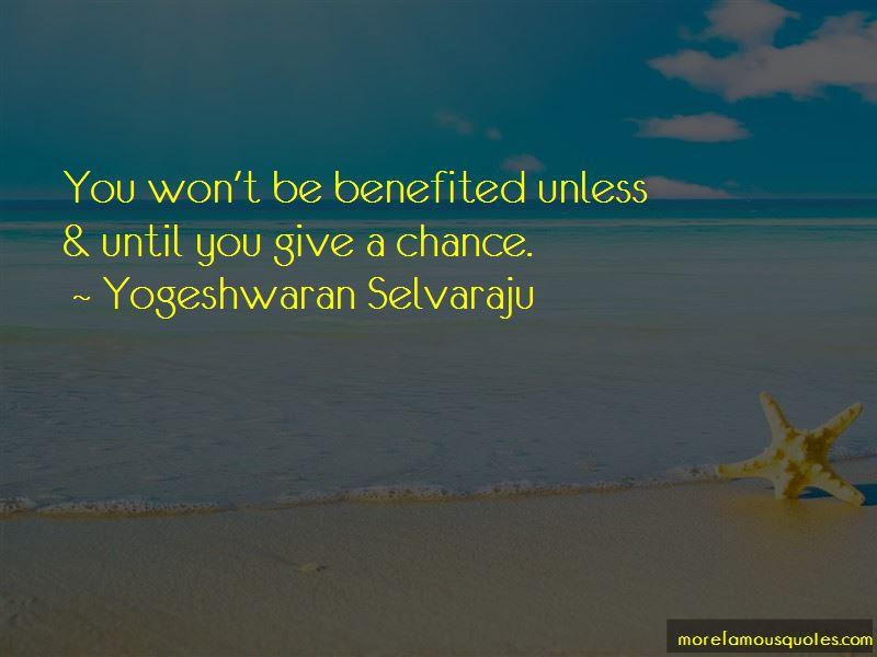 Yogeshwaran Selvaraju Quotes