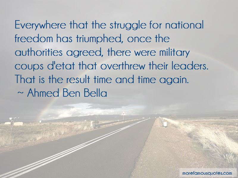 Ahmed Ben Bella Quotes Pictures 2